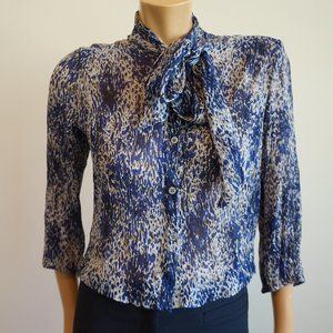 Elizabeth and James Silk Blouse w/ Scarf Tie